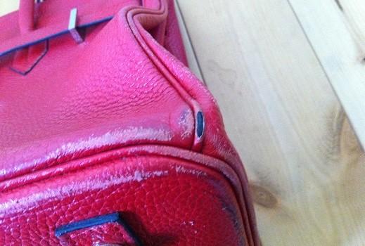 バッグの四隅の黒ずみ修理【エルメスバーキン例:足立区、さいたま市対応】